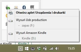 Bezpieczne wysuwanie Kindle