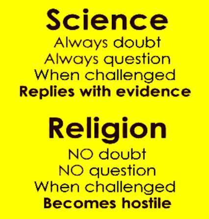 Science v Religion