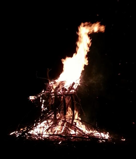 Last night's Easter Fire in the neighbourhood