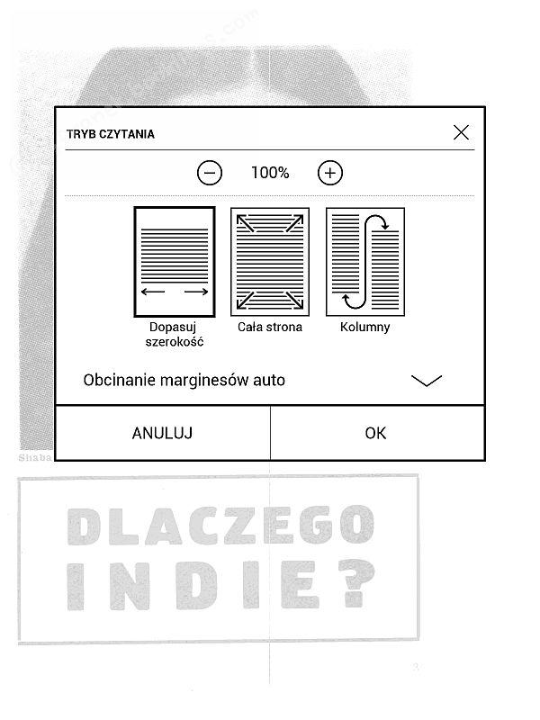 PocketBook InkPad 2 - dopasowanie DJVU