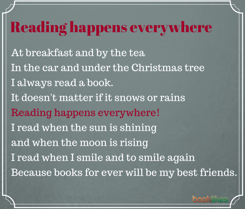 Reading happens everywhere poem