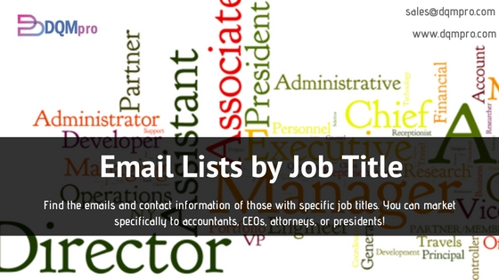 Email Lists by Job Title | Business Email Lists