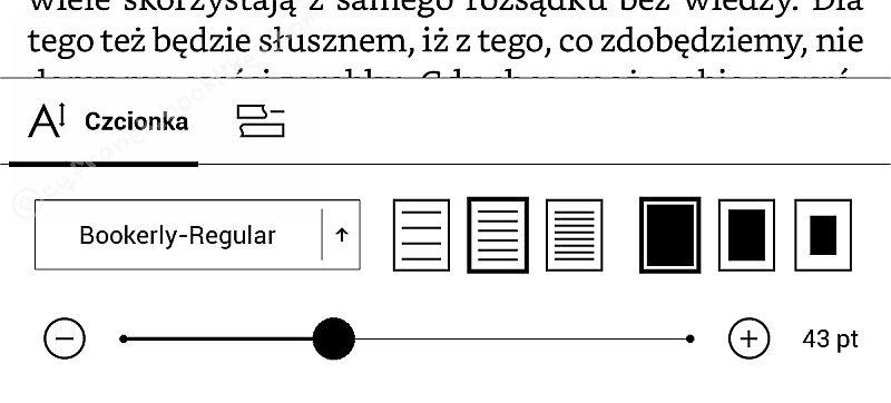PocketBook InkPad 2 - dolne menu w e-booku