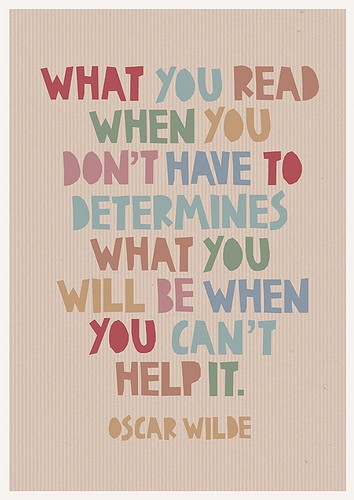 Quoting Oscar Wilde