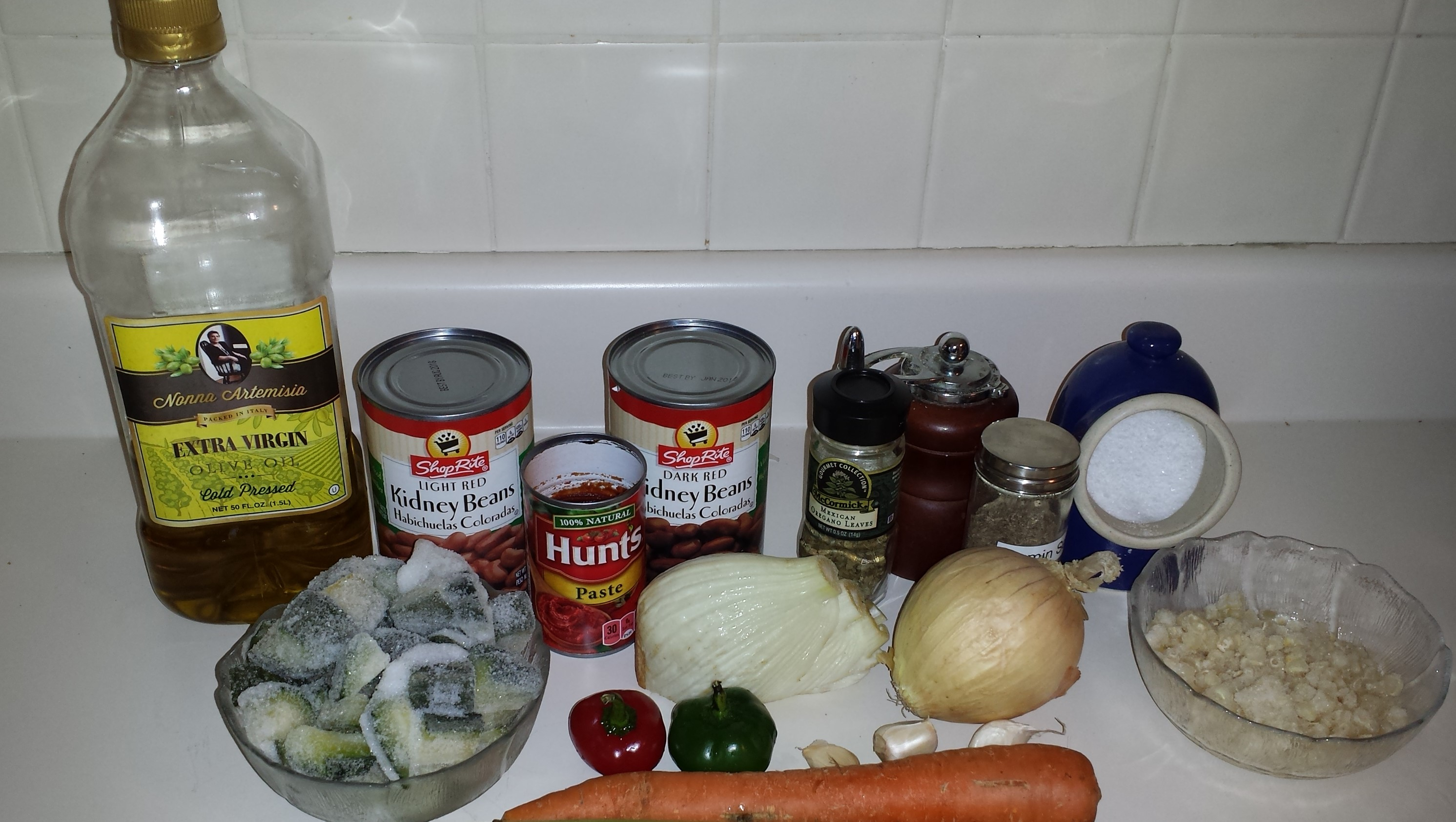 Ingredients for 3 Sisters Chili
