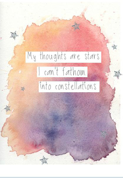 Beautiful, beautiful watercolour illustration of this quote from The Fault in Our Stars