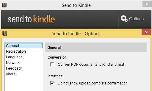 Konwersja PDF przy wysyłce na Kindle