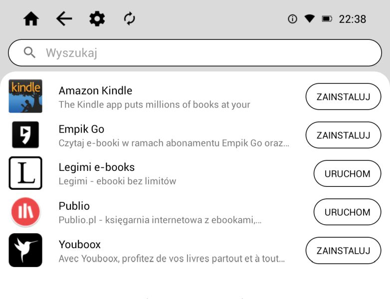 Empik Go na czytniku inkBook Prime HD