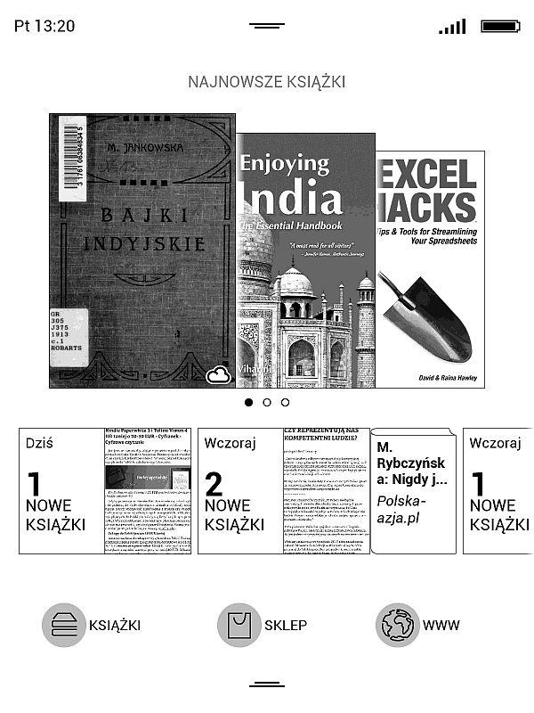 PocketBook InkPad 2 - ekran startowy