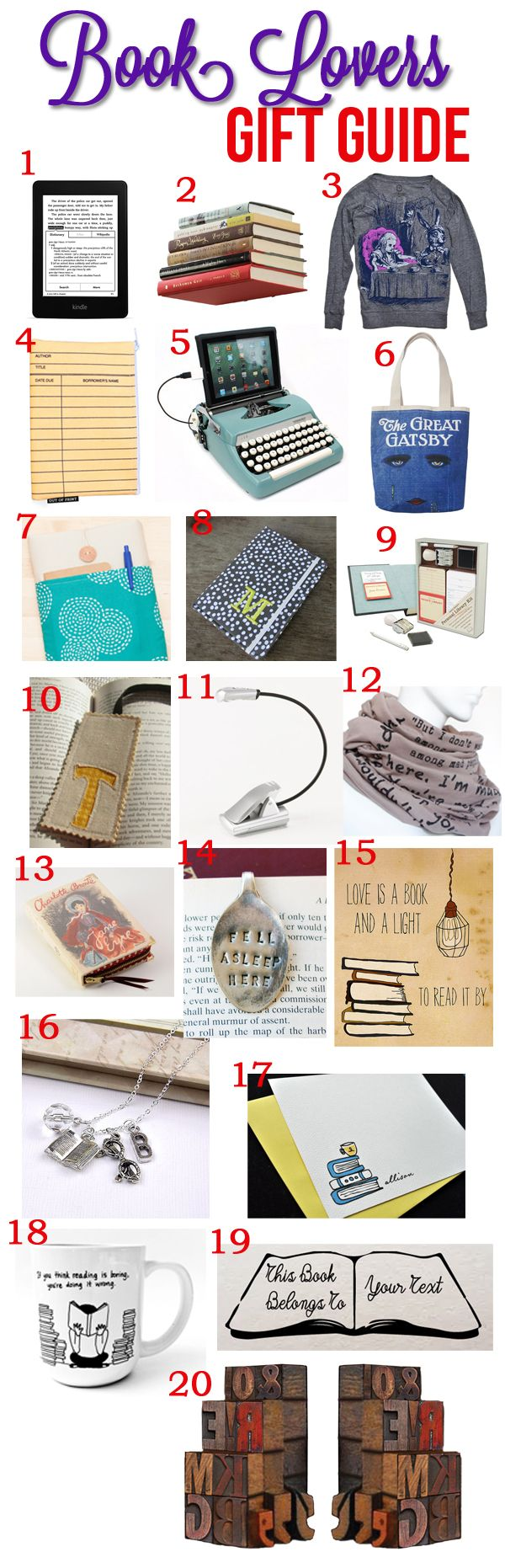 Book Lovers Gift Guide Bookish Quotes