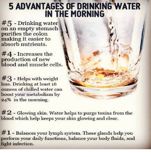 Why drink water in the morning!