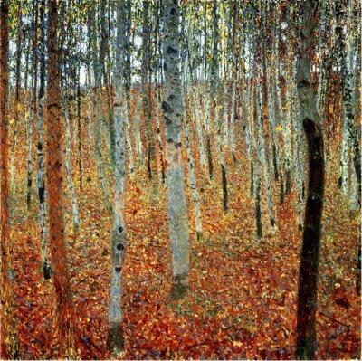 Klimt - Forest of Birch Trees