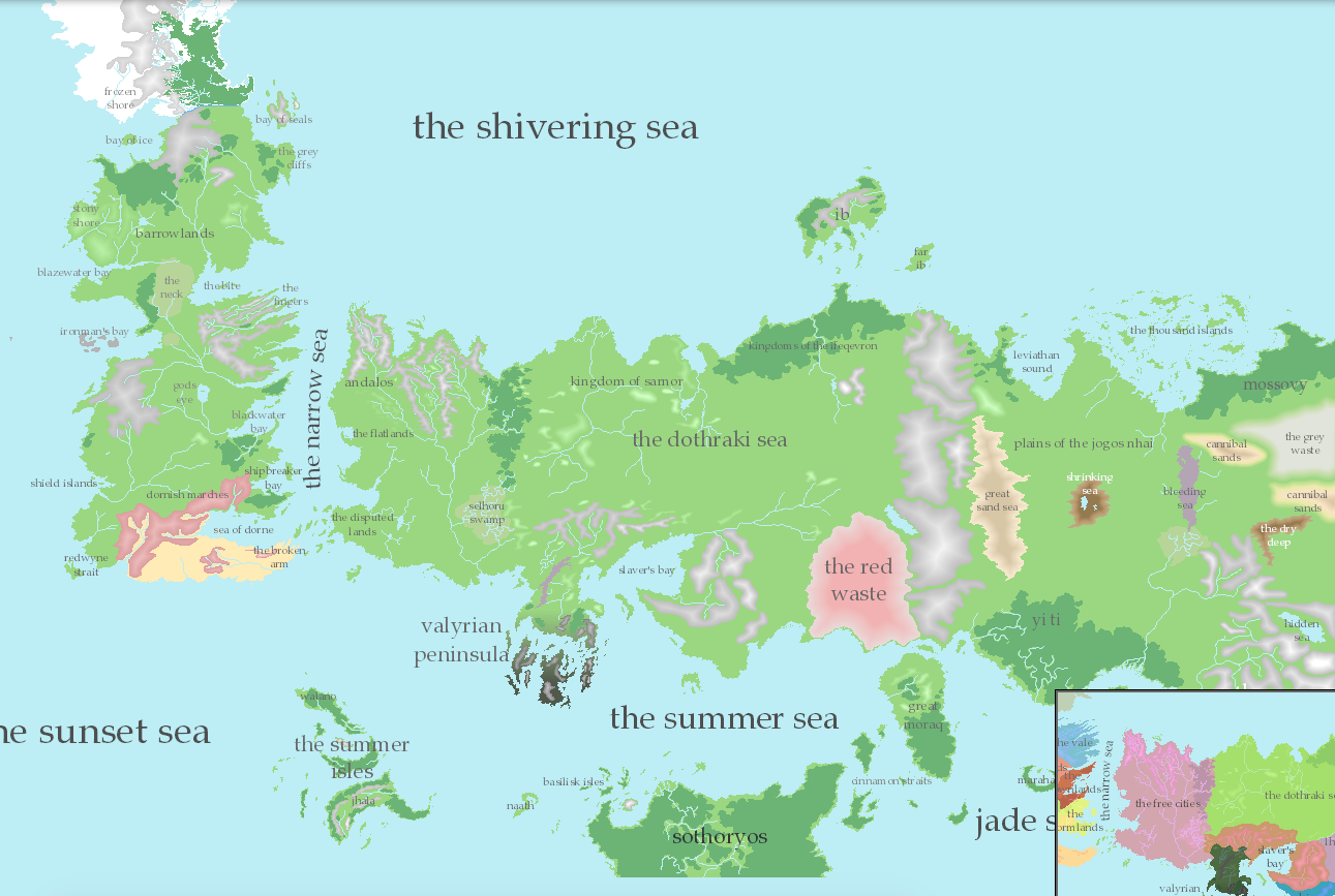 Interactive Game Of Thrones Map. no spoilers interactive game of ...