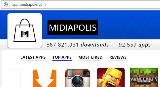 Strona WWW sklepu Midiapolis