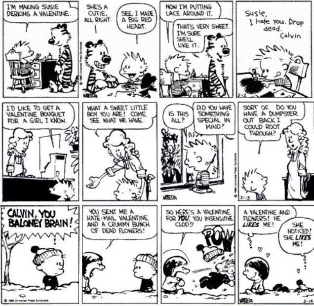 Calvin hobbes valentine