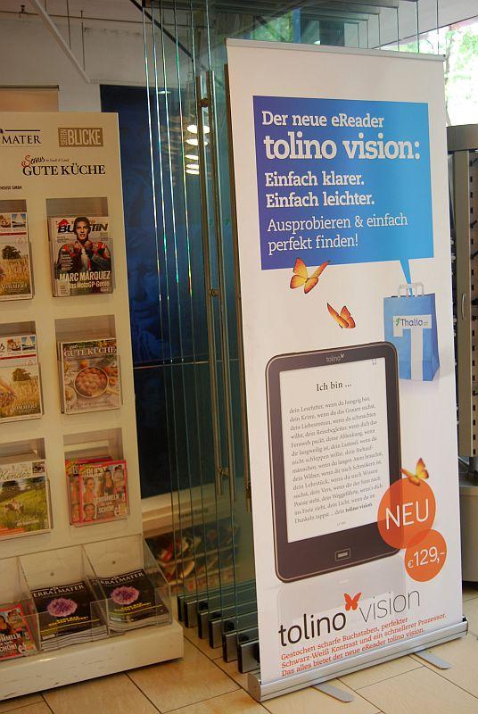 Księgarnia Thalia w Wiedniu sprzedaje czytniki Tolino