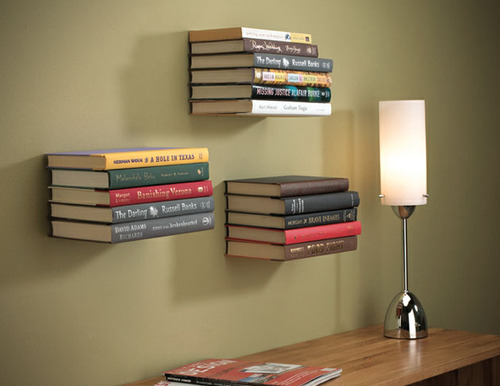 floating book shelves...I want some