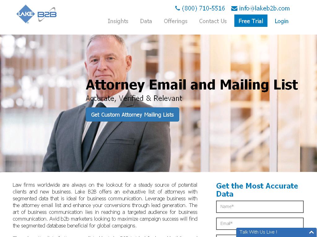 Attorney Email List - lakeb2b