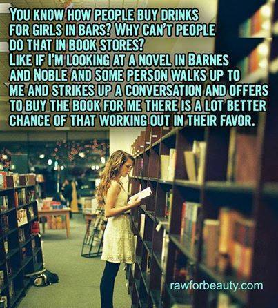 Now why didn't I think of this when dating?  Then again,  my Hubby did buy me books while courting me...no wonder I love him so much! :) I