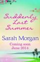 Suddenly Last Summer - Sarah Morgan