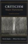 Criticism Major Statements - Charles Kaplan, William Anderson