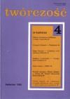 Twórczość, nr 4 (593) / 1995 - Grzegorz Strumyk, Jerzy Czech, Tadeusz Komendant, Kazimierz Hoffman, Redakcja miesięcznika Twórczość