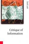 Critique of Information - Scott M Lash
