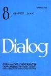 Dialog, nr 8 / sierpień 2000 - Luis Buñuel, Rafał Węgrzyniak, Violetta Sajkiewicz, Redakcja miesięcznika Dialog, Marek Koterski, José Sanchís Sinisterra, Urszula Aszyk-Bangs