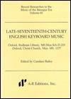 Late-Seventeenth-Century English Keyboard Music - Henry Purcell, John Blow