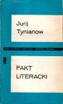 Fakt literacki - Jurij Nikołajewicz Tynianow
