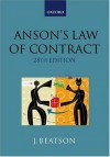 Anson's Law of Contract - Jack Beatson