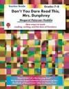 Dont You Dare Read This, Mrs. Dunphrey - Teacher Guide - Novel Units, Margaret Peterson Haddix