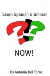 Learn Spanish Grammar NOW! - Antonio Del Torro