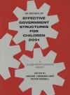 Uk Review Of Effective Government Structures For Children 2001: A Gulbenkian Foundation Report - Rachel Hodgkin, Peter Newell