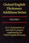 Oxford English Dictionary Additions Series - John Weiner