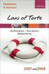 Q and A: Law of Torts 2007-2008 - David Oughton, John Marston, Barbara Harvey