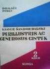 Perillustris ac generosus Cintek - Ksaver Šandor Gjalski