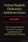 Oxford English Dictionary Additions Series - John Weiner, John Andrew Simpson
