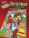 3-D Coloring Book - Christmas Designs - Jessica Mazurkiewicz, Marty Noble