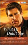 What He Didn't Say - Carol Stephenson, Maggie Price