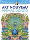 Creative Haven Art Nouveau Animal Designs Coloring Book - Marty Noble, Creative Haven