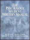 The Psychology Student Writer's Manual - Jill Scott, Gregory M. Scott, Stephen M. Garrison