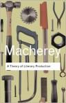 A Theory of Literary Production - Pierre Macherey, Geoffrey Wall, Terry Eagleton