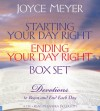 Starting Your Day Right/Ending Your Day Right Box Set: Devotions to Begin and End Each Day - Joyce Meyer, Sandra McCollom