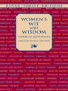Women's Wit and Wisdom: A Book of Quotations (Dover Thrift Editions) - Oprah Winfrey, Eleanor Roosevelt, Helen Keller, Erma Bombeck, Susan L. Rattiner, Sappho, Susan B. Anthony, Harriet Tubman, Queen Elizabeth I