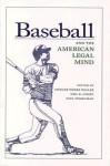 Baseball and the American Legal Mind - Spencer Waller, Paul Finkelman, Neil B. Cohen