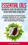 Essential Oils: Beginners guide on how you can detox your home in one day! 30 easy recipes for non-toxic cleaning products, all natural bath and body ... diffuser, lavender, lemon, peppermint,) - Lynn Marie
