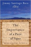 The Importance of a Piece of Paper - Jimmy Santiago Baca