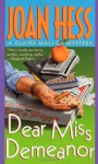 Dear Miss Demeanor - Joan Hess