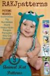 9 Precious Animal Hat Crochet Patterns - Kristi Simpson